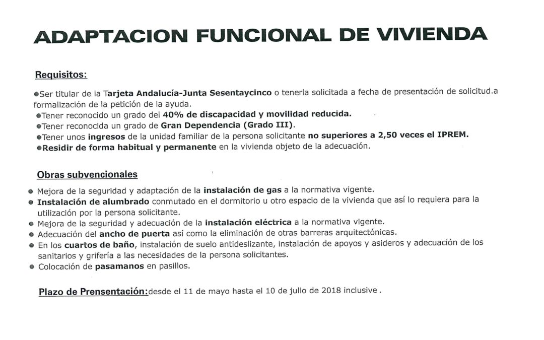 ADAPTACIÓN FUNCIONAL DE VIVIENDA 1