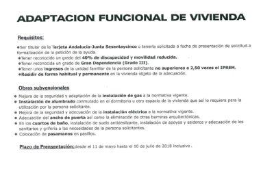 ADAPTACIÓN FUNCIONAL DE VIVIENDA